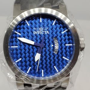 Invicta 46mm DNA Quartz Glass Fiber Silicone Watch